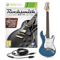 Rocksmith Xbox 360 + 3/4 LA Guitar Blue - Musicandgoodshit.com