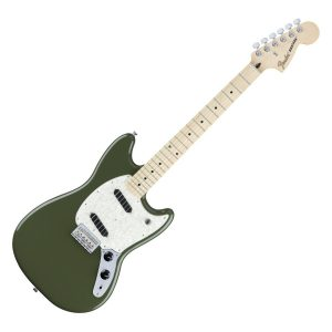 Fender Mustang Olive Green Electric Guitars